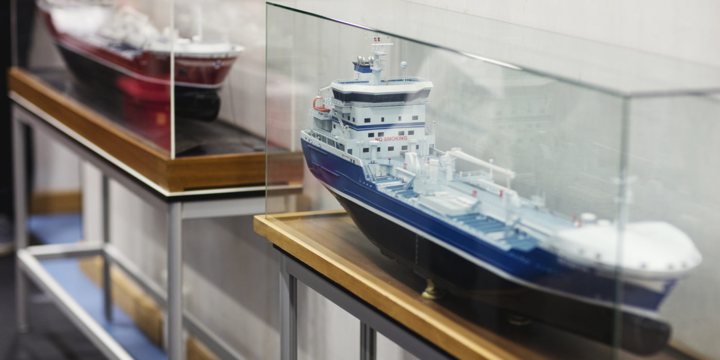 a model of a boat